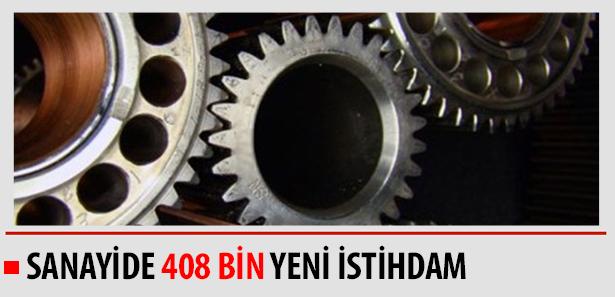 Sanayide 408 Bin Yeni İstihdam